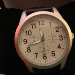 FMDPU Faux Gray Chrono Designer Watch